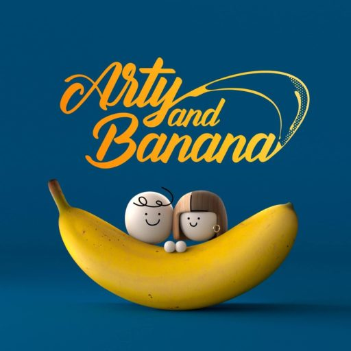 arty and banana logo